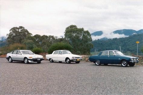 DSC_0006 1969 Rover 2000TC 1970 Rover 3500 1982 Rover 3500SE Talbingo 14-6-1982