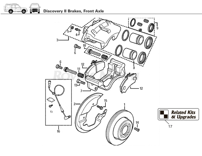Diagram Range Rover P38a Front Axle Suspension Diagram Schematic