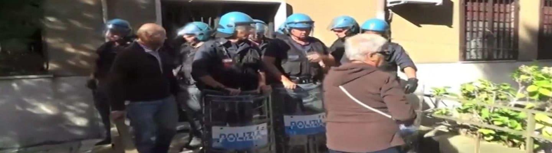 Έξωση ηλικιωμένης και καταστολή στη Ρώμη