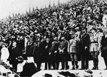Συνθήκη Σεβρών - Πανηγυρισμοί στο Παναθηναϊκό στάδιο