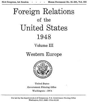 Διπλωματικά έγγραφα ΗΠΑ 1948