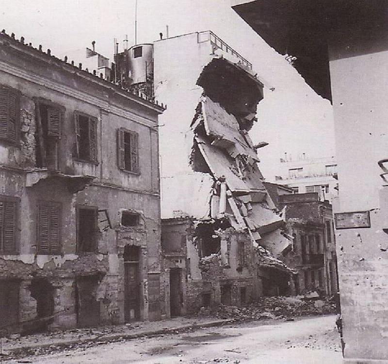Αθηναϊκός δρόμος τις μέρες του Δεκέμβρη του '44