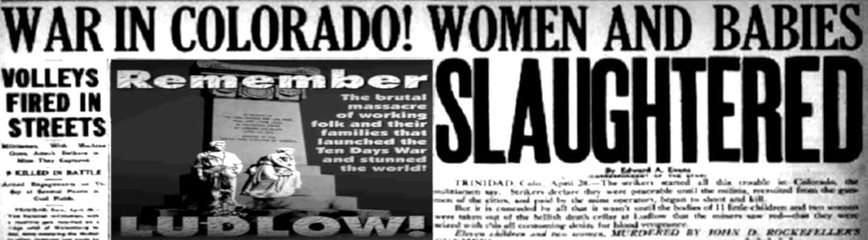 Η σφαγή των ανθρακωρύχων στο Ludlow και ο Λούης Τίκας (vid)