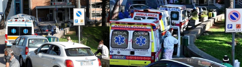 Ιταλία: Ασθενείς λαμβάνουν οξυγόνο στα αυτοκίνητά τους έξω από νοσοκομεία