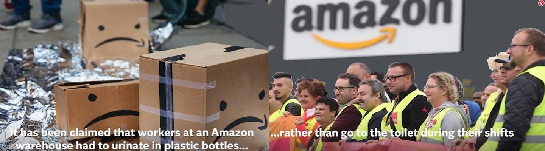 Ουρούν σε πλαστικά μπουκάλια οι εργαζόμενοι στην Amazon