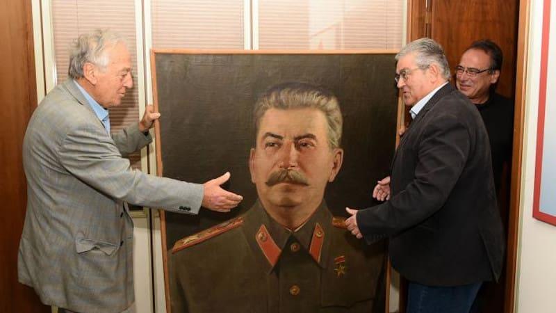 Ο Μανώλης Καψής και ο Στάλιν στο Κουκάκι
