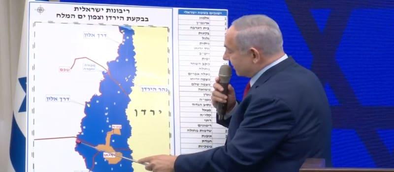 Ο Νετανιάχου υπόσχεται να προσαρτήσει την Κοιλάδα του Ιορδάνη