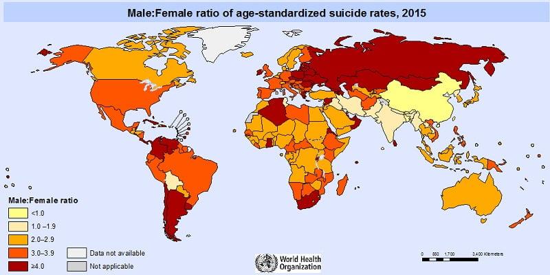 Παγκόσμιος Οργανισμός Υγείας: Ο χάρτης των αυτοκτονιών