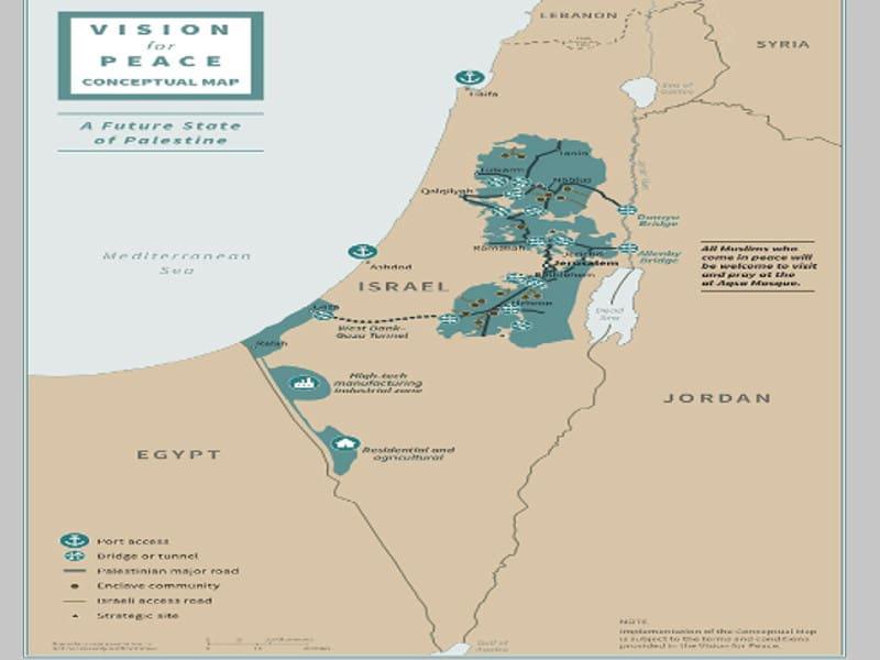 Παλαιστινιακό... μη κράτος προβλέπει το σχέδιο του Ντόναλντ Τραμπ