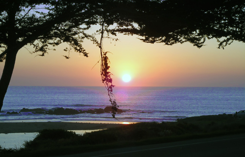 Sunset Moonstone Beach Cambria California