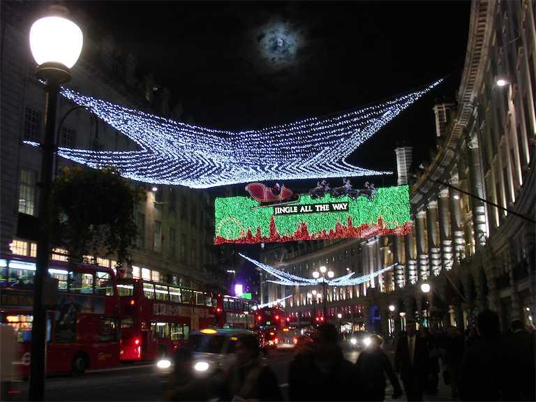 London Regent Street Xmas Lights 2011