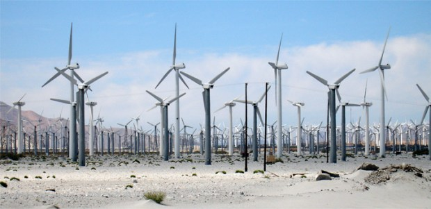Palm Springs Wind Turbines California