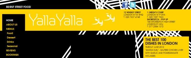 Yalla Yalla Website
