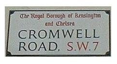 Cromwell road sign