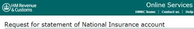 HM Revenue NI Statement UK Retirement for the State