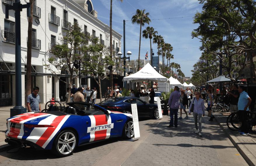 Santa Monica 3rd Street Los Angeles Jag F-Type