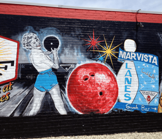 Mar Vista Bowling Alley Graffiti