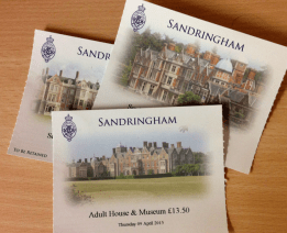 Entrance ticket to Sandringham Estate and Grounds