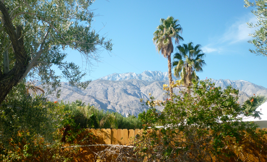 Palm Springs Mountains with snow on top