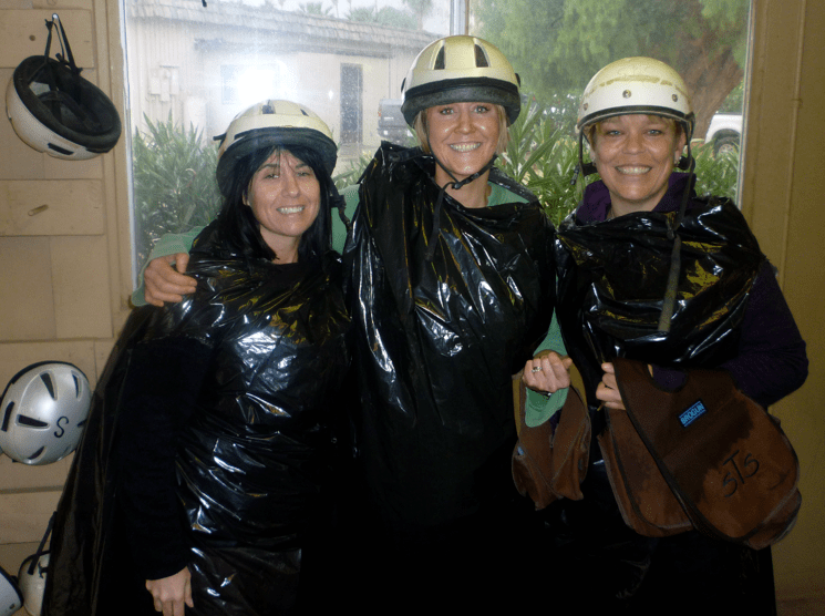 Horse riding in the rain Palm Springs
