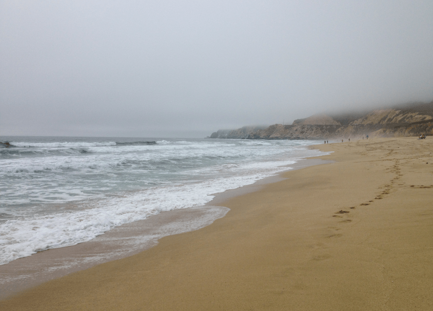 Montara Beach Near Half Moon Bay California