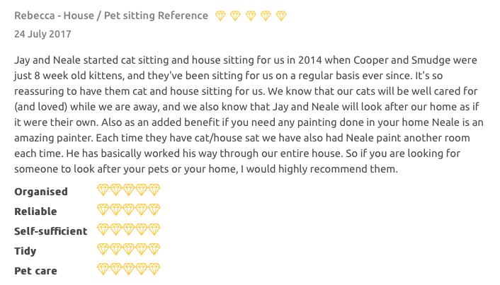 House Sitter Review for Jay Artale Trusted HouseSitters