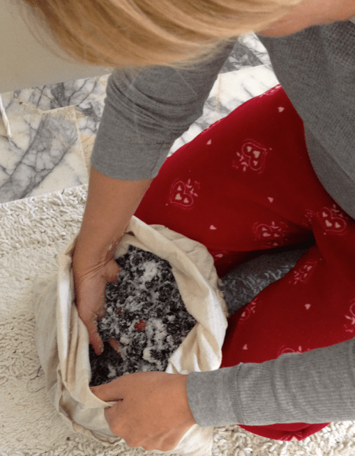 Salting the black olives in Bodrum Turkey