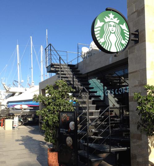 Starbucks Yalikavak Marina Bodrum Turkey