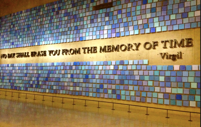 The Colour of the Sky display at the 9-11 Museum New York