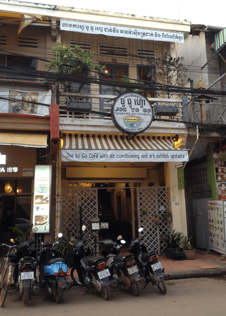 Joe on the Go Cafe Exterior Siem Reap Cambodia Responsible tourism