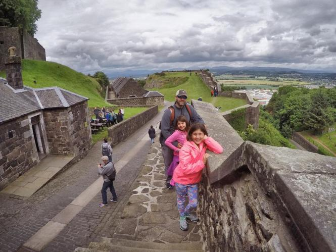 Walking the walls of Stirling Castle