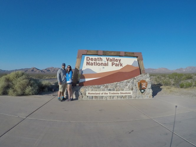 Death Valley welcome sign