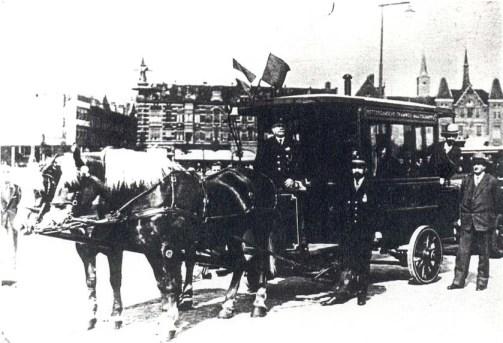 Paardenomnibus 112, feestrit, 1934