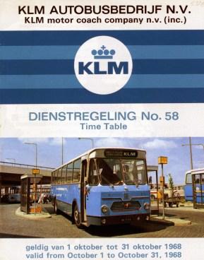 KLM dienstregeling 1968