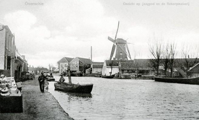 De Rotterdamse Schie in Overschie