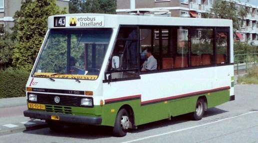 Bus 125 (ex ZWN 7080) in huur bij de RET van 21-8-1995 t/m 9-6-1996 voor het vervoer van passagiers Schenkel-IJsselland ziekenhuis