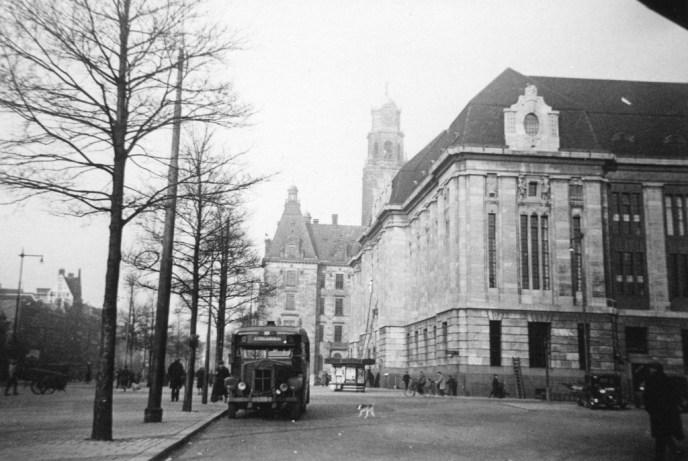 Bus 3, Krupp-Allan, kenteken H-65191, lijn D, Coolsinge,l 1930