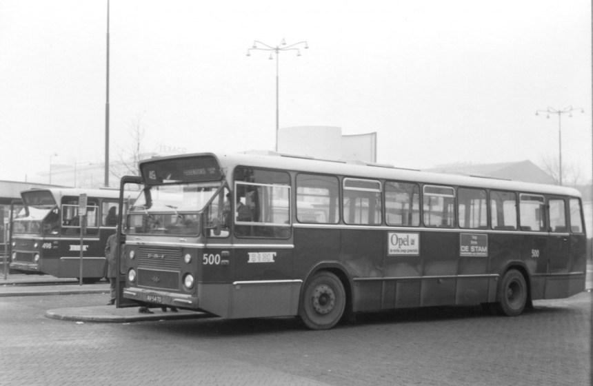 Bus 500, DAF-CSA-1, lijn 49, Stationsplein, 1970
