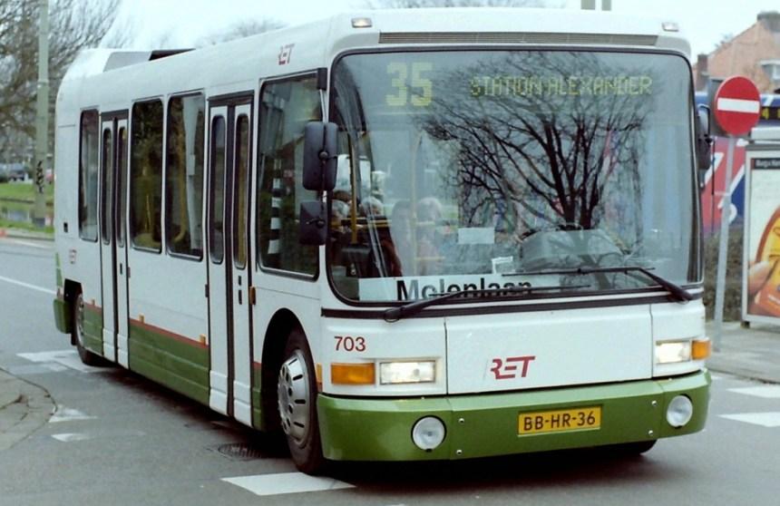 Bus 703, Midi DAB-City, verkorte buslijn 35, Molenlaan Alexanderpolder, 1999, Molenlaan