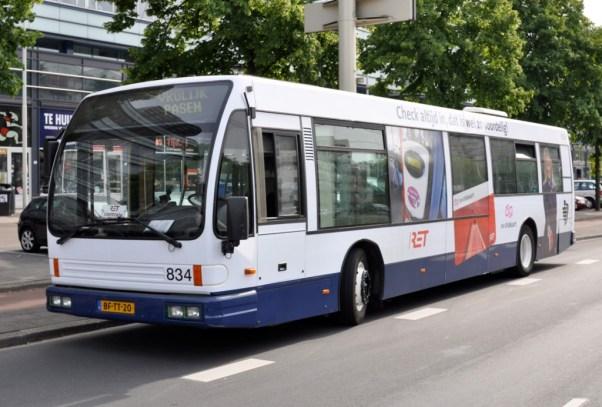 Bus 834, DAF-Den Oudsten Alliance ingezet als controlebus, Vasteland, 2010