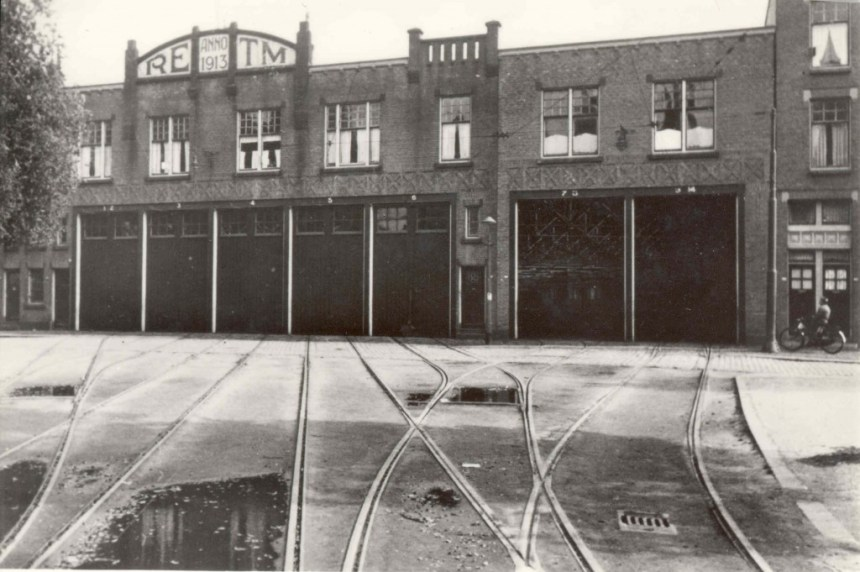 Remise Charlois, Velgersdijkstraat - Brielselaan, 1936.