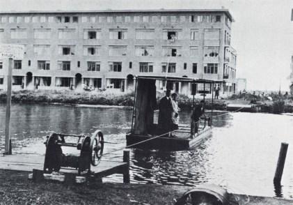 Het pontje over de Noorderhaven bij de Gordelweg, 1936