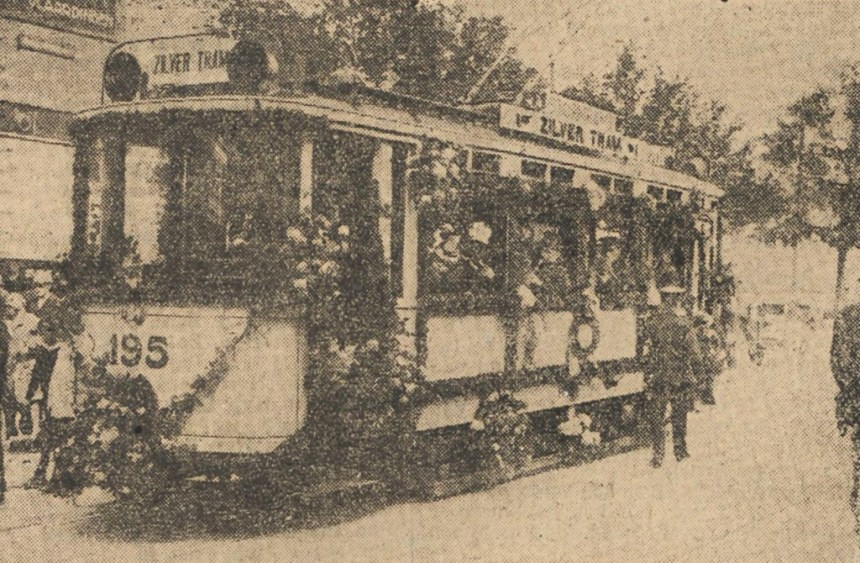 De eerste Rotterdamse Zilvertram, 21 juni 1927