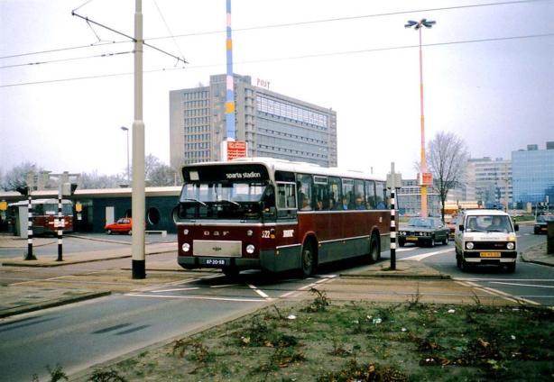 Bus 622 vanaf het Stationsplein op weg naar het Sparta stadion