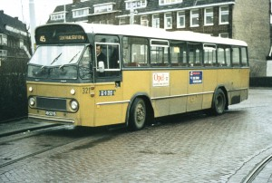 Buslijn 45, eindpunt Kleiweg ca. 1971