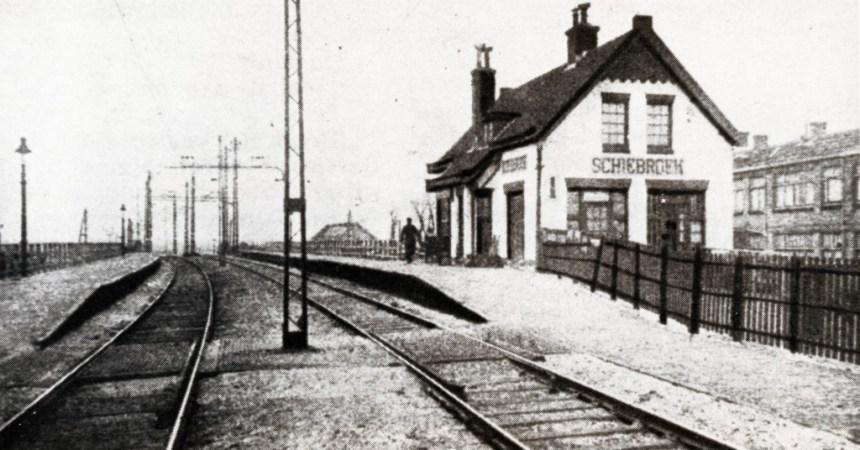 Station Schiebroek gezien vanaf de Kleiweg, ca. 1918