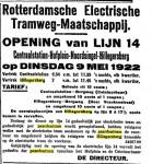 19220508 Lijn 14 geopend (NRC)