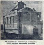 19240712 Nieuwe motortram voor de lijn Rotterdam-Overschie (Voorwaarts)