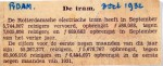 19321030 Opbrengst tram in september