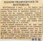 19340905 Dalend tramvervoer Rotterdam
